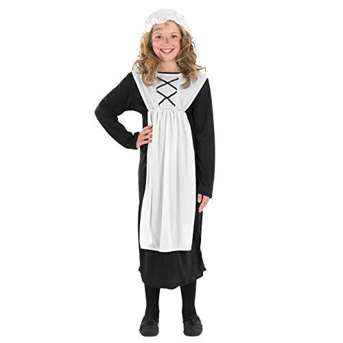 Fun Shack FNK3457M Kostüm, Girls, Victorian Servant, - Victorian Girl Kostüm
