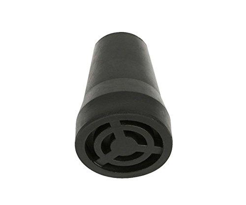 Sysfix punta in gomma per stampelle e bastoni, 17 mm di diametro con clip in metallo, 4 Inserti