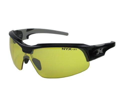 NYX Sport Vision Pro z-17Serie Sonnenbrille mit Z87.1Sicherheit Bewertung, black-gray Rahmen/gelb Luminator Sicherheit Objektiv, Medium