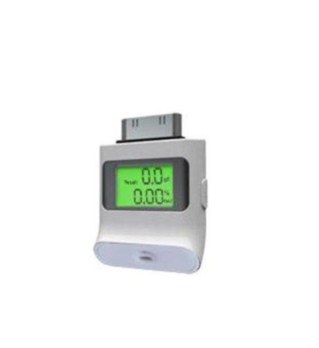 Akashi altati4Alkohol Tester für iPhone 3G/3GS/4/4S/iPad 1/2/3Weiß