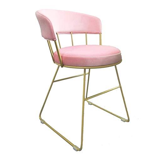 Muebles para el hogar Silla de comedor de acero inoxidable dorada Marco Silla para vestirse Silla de respaldo Taburete para...