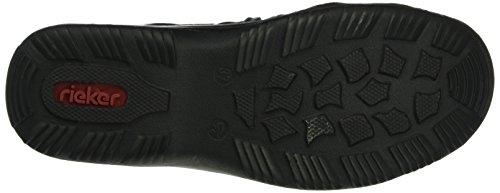 Rieker Damen L0573 Sneakers Schwarz (Black/Grau/Leo-Navy/Schwarz/Schwarz / 00)
