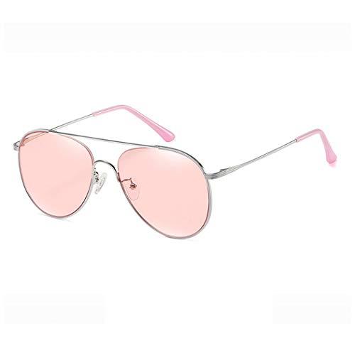 LELESunglasses Brille Nylon Objektiv Sonnenbrillen Mode Pilot Frosch Spiegel Metallrahmen Bunte Weibliche Sonnenbrillen (Farbe : C)