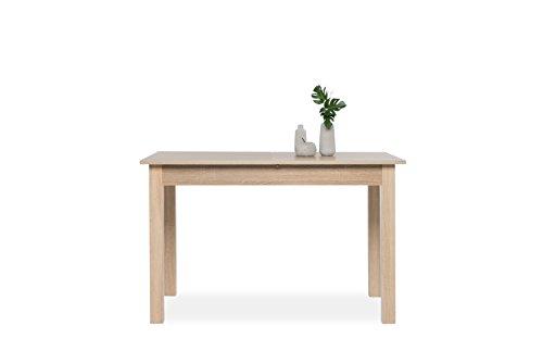 Inter Trade 1283 Table de salle à manger Extensible Bois Chêne Sonoma 120 x 70 x 76,5 cm
