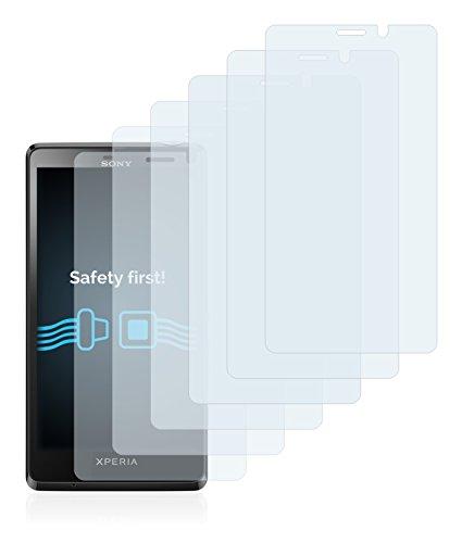 Savvies Pellicola Protettiva Compatibile con Sony Xperia T LT30 Protezione Schermo [6 Pezzi]