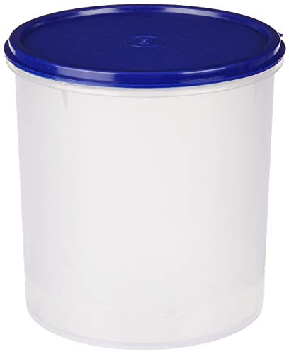 Amazon Brand - Solimo Round Plastic Container, 3 litres, Blue