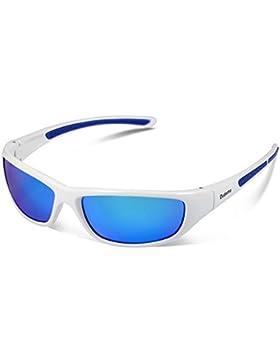 Duduma Gafas de Sol Deportivas Polarizadas Para Hombre Perfectas Para Esquiar Golf Correr Ciclismo TR8116 Súper...