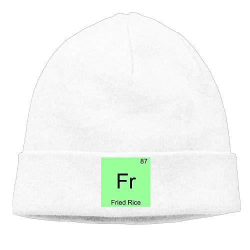 Preisvergleich Produktbild Momen Fr - Fried Rice Funny Chemistry Element Symbol Funny Skiing Black Beanies Hats