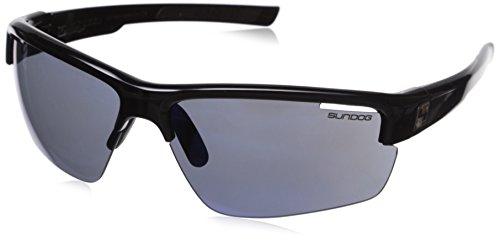 Sundog Zeichnen 401013Sonnenbrille, Schwarz glänzend Rahmen/Smoke Light Blau Lens
