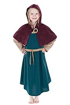 Childrens Norse Viking Girl Historical Costume (7-9 years) by Pretend to (Norse Viking Kostüm)