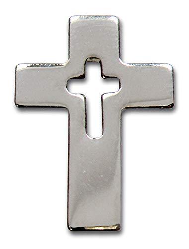 Christliche Geschenkideen °° Anstecker Kreuz 2 cm (silberfarben)