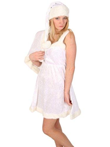 Kostüm Ice Queen Sexy - Weihnachten Kostüm-Girl Ice Queen Dress-Sexy Knie lange schlafen Rock - Weiß