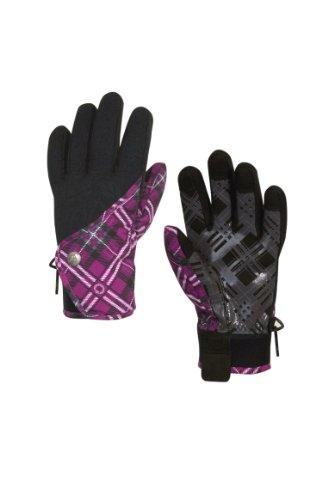 Betty Rides Damen Lucky Plaid Spring Handschuh Snowboard/Ski Handschuhe, damen, Ruby Plaid (Plaid Ski-handschuhe)
