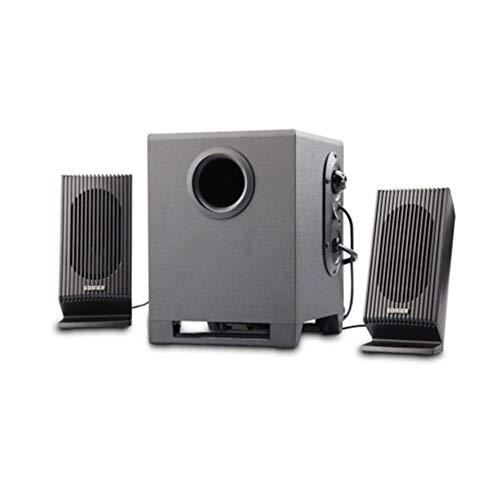 HAOYUSHANGMAO Bass-Kanone 2.1-Multimedia-Lautsprecher, Audio-Computer-Lautsprecher, Schwarz, Durable (Color