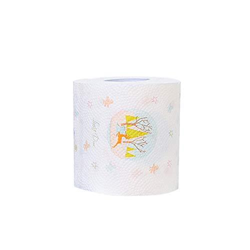 AchidistviQ Toilettenpapierrolle, Weihnachts-Pinguin, Weihnachtsmann Elch Baum, Bedruckt, Papier, Papier, Christmas Tree -