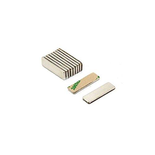 Magnetastico | 20 Stück Selbstklebende Neodym Magnete N52 Rechteck 20x10x1 mm | Starke Klebemagnete mit 3M Marken-Klebeband | N52 Magnete mit Klebefolie Selbstklebend Extra Hohe Haftkraft