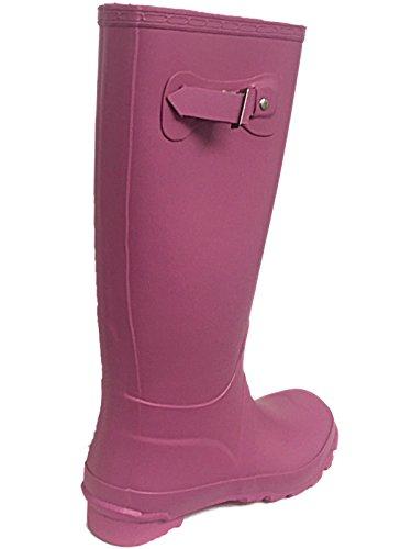 Foster Footwear ,  Mädchen Unisex Kinder Damen Jungen Arbeits-Gummistiefel Pink Matte