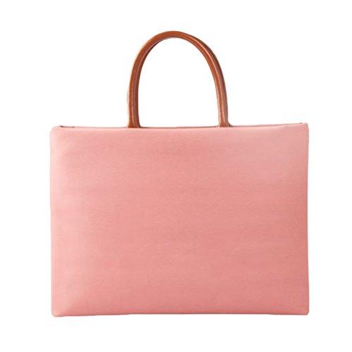 Yuncai Notebooktasche Apple Macbook Schutztasche Mode Handtasche Aktentasche Pink One Size(12/13/14/15 Inch)