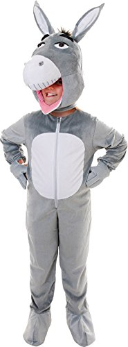 Imagen de niño cabeza grande burro disfraz shrek animales de granja infantil pantomima mascot traje uk alternativa