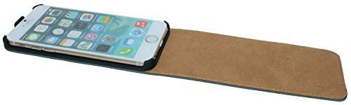 Handytasche Flip Style für Iphone 6 PLUS in Pink Klapptasche Hülle @ Energmix Schwarz