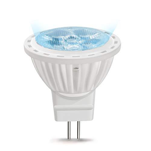 MR11 LED Birne GU4 4W AC/DC 12V Reflektor Leuchtmittel 120 Grad Kaltweiß 6000K nicht Dimmbar 35W Halogenlampe (6-Stück)