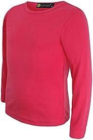lotmart Bambini Tinta Unita Basic Top Manica Lunga Ragazze, Ragazzi T-Shirt Maglia Girocollo Uniforme Magliett