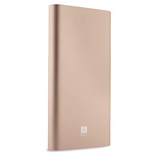 iBall 10000mAh Li-Polymer Slim Design Smart Charge Metal Powerbank- LPM10000 (Champagne Gold)