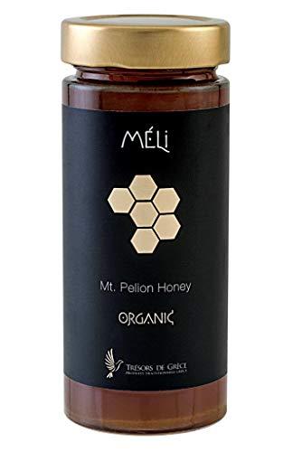 Meli Bio Berghonig Premium | Feinste Qualität Kaltgeschleudert Unfiltriert, unbehandelt honig | Dunkle Farbe dichte Konsistenz und intensives Aroma, vegetarisch | naturbelassen Bienenhonig, 400gr (Bio-bienenhonig)