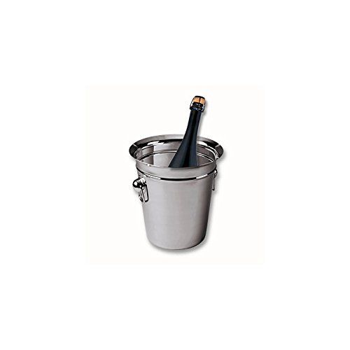 Edelstahl Weinkühler Sektkühler 20 cm Flaschenkühler Champagnerkühler Wein Sekt Kühler Sektkübel