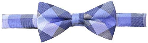 Tommy Hilfiger Men's Buffalo Tartan Bow Tie, Navy, One Size (Bow Tartan Tie)