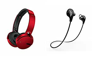 Extra Bass XB650 Headphones & Bluetooth Headset for LG band play(XB 650 Headphones,With MIC,Extra Bass,Headset,Sports Headset,Wired Headset & Jogger Bluetooth Headset,Sports Headset,Gym Headset )