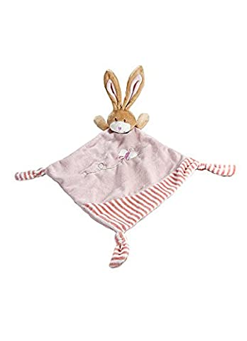 Pink Bunny Rabbit Comfort Blanket Security Blankie for Newborn Baby (Neonate Di Colore Rosa A Righe)