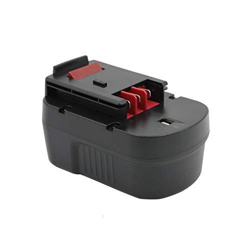 Kinon Reemplazo Herramienta Eléctrica Batería 14.4V 2.0Ah Para Black & Decker Taladro Inalambrico Destornillador A14 A144 A144EX A14F BD1444L BD146F3 HPB14 499936-34 FIRESTORM FS140BX FSB14 FS14PSK