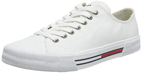 Tommy Hilfiger Damen WMN Classic Tommy Jeans Sneaker, Weiß (White 100), 41 EU