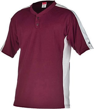 Rawlings Youth Two Button YJSB Jersey, Maroon, Youth Small