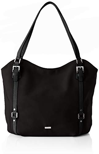 Tamaris Damen Malou Shopping Bag Henkeltasche, Schwarz (Black Comb.), 15x33x48 cm