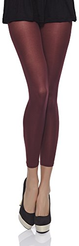 Merry Style Damen Mikrofaser Leggings Clara 40 DEN (Bordo, XS/S (30-36))