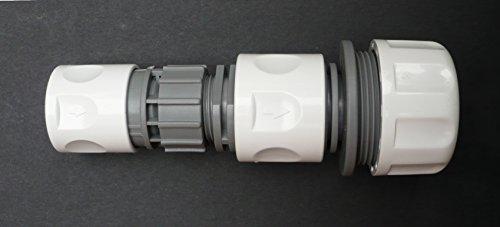 Adaptateur à clipser. 1/5,1 cm Snap-on Accessoires Permet d'être fixée au 3/10,2 cm ou 2,5 cm Tuyau d'arrosage. C/W 2,5 cm Raccord de tuyau.