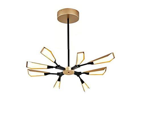 Oofay light led albero lampadario, foglie di bambù luce pendente, acrilico paralume moderno minimalista soggiorno lampadario,8heads
