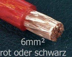 Preisvergleich Produktbild just-SOUND 6mm2 Stromkabel - Powerkabel made in Germany - CarHifi OFC Kupfer,  Farbe:rot