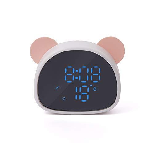 Road&Cool Wecker Aufzeichnung Kind Schlafzimmer Stimmenkontrolle LED Digital Zeit Elektronisch Snooze Spiegel Alarm (10 × 10 × 3 cm)