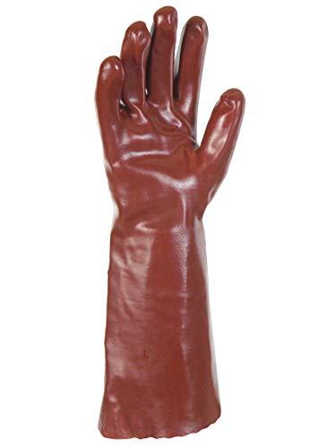 Gants SYNTHETIQUES PVC Rouge 40CM, 8.5-8