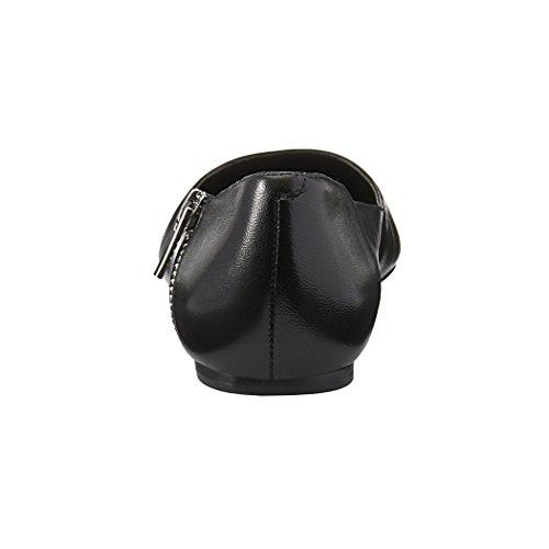 Onlymaker Damenschuhe Spitz Toe Flache Pumps mit Reissverschlussdecoration 1027-vk380