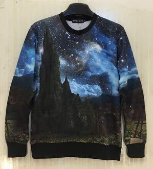 Bushiwo Sweatshirt Kapuzenpullover Hoodie Sweatshirts für Color Space Galaxy Pilot Drucken Sie 3D-Sweatshirt Männer, A6, M