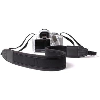 Tour de cou / bandoulière réglable et résistant pour appareils photos numériques Canon EOS 7D, 1100D, 5D Mark II, 60D & 70D - noir