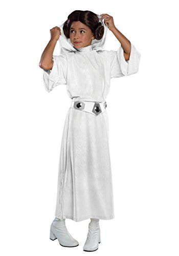Deluxe Child Princess Leia Fancy dress costume X-Large