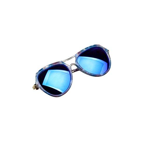 Rekkle Baby Kinder Reflektierende Sonnenbrille Schutz UV400 Junge Mädchen Sun-Glas-Doppelmetallbrücke Kinder im Freien Täglich Brillen
