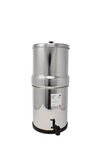 British Berkefeld Gravity SS-2 - Filtro Portatil Sobre Encimera Acero Inoxidable Pulido Capacidad para 5 Litros