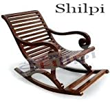 Shilpi Amazing Hand Carved Wooden Rocking Chair/Relax Chair