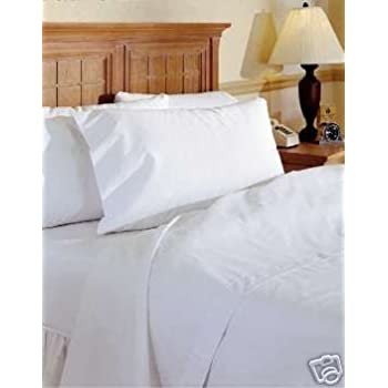 Merveilleux Viceroybedding 100% Egyptian Cotton Fitted Sheet, White, Small Single 400  Thread Count